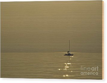 Sailing Boat Wood Print by Mats Silvan