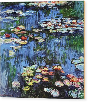 Wood Print featuring the painting Waterlilies  by Claude Monet