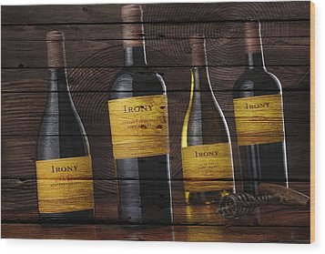 Wine Wood Print by Joe Hamilton