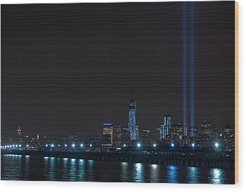 911 Tribute In Lights 2 Wood Print