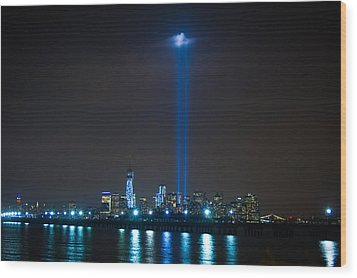 911 Tribute In Lights Wood Print