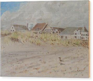 98th Street Beach Stone Harbor New Jersey Wood Print by Patty Kay Hall