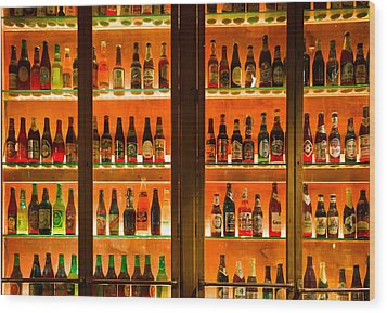 99 Bottles Of Beer On The Wall Wood Print by Semmick Photo