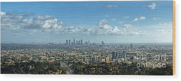 A 10 Day In Los Angeles Wood Print by David Zanzinger