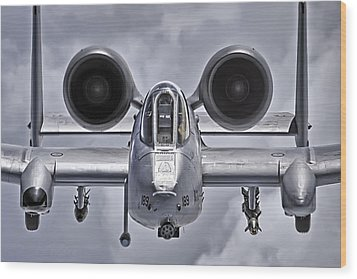 A-10 Thunderbolt II Wood Print by Adam Romanowicz
