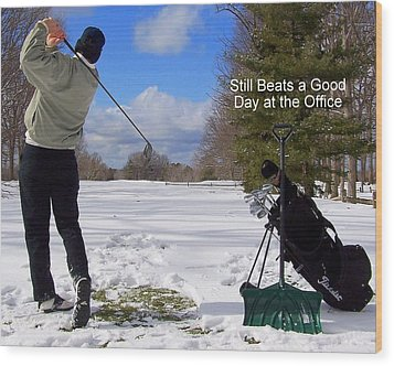 A Bad Day On The Golf Course Wood Print by Frozen in Time Fine Art Photography