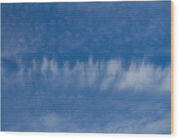 Wood Print featuring the photograph A Batch Of Interesting Clouds In A Blue Sky by Eti Reid