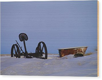 A Bath After Harvest Wood Print by Jeff Swan