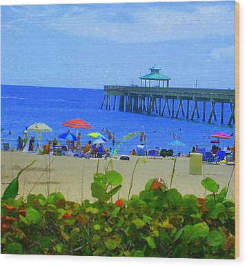 Wood Print featuring the photograph A Beach Day by Artists With Autism Inc