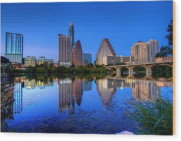 A Beautiful Austin Evening Wood Print