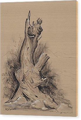 A Bit Gnarly Wood Print