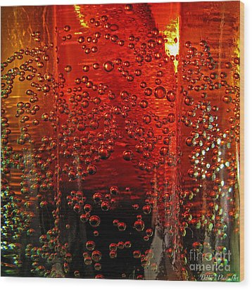 A Bit Of The Bubbly    Pepsi Wood Print by Debbie Portwood