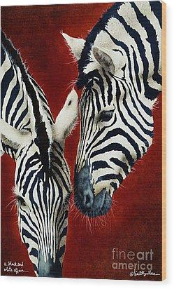 A Black And White Affair... Wood Print