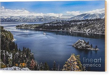 A Bluebird Day At Emerald Bay Wood Print