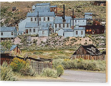 A Bodie View From Above Wood Print by Joseph Coulombe