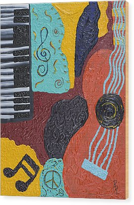 A Bold Session Wood Print by Robin Hillman