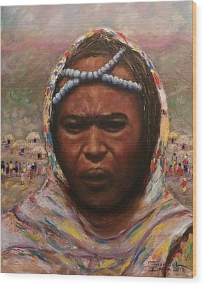 A Borana Lady. Wood Print