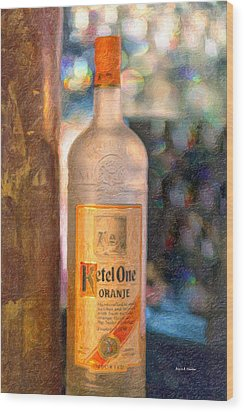 A Bottle Of Ketel One Wood Print by Angela A Stanton