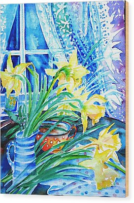 A Bouquet Of April Daffodils  Wood Print by Trudi Doyle