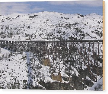 A Bridge In Alaska Wood Print