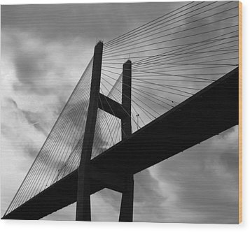 A Bridge Wood Print