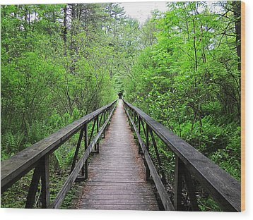 A Bridge To Somewhere Wood Print by MTBobbins Photography