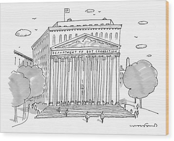 A Building In Washington Dc Is Shown Wood Print by Michael Crawford