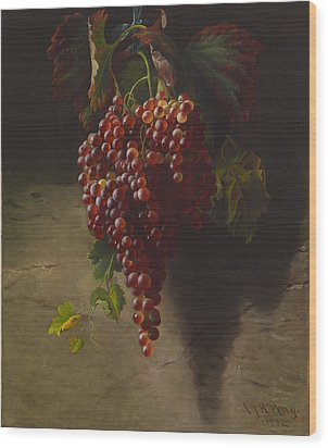 A Bunch Of Grapes Wood Print by Andrew John Henry Way