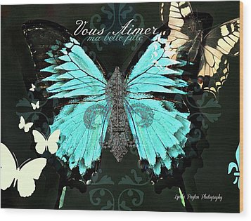 A Butterfly For Terra Wood Print by Lynda Payton