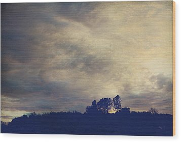 A Calm Sets In Wood Print by Laurie Search