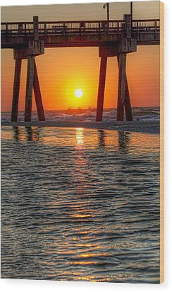 A Captive Sunrise Wood Print by Tim Stanley