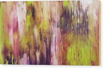 A Cascade Of Hues Wood Print by Jagjeet Kaur