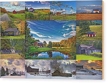 A Celebration Of Barns  Wood Print by Steve Harrington
