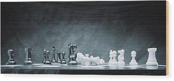 A Chess Game Wood Print by Don Hammond