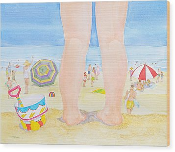 A Child Remembers The Beach Wood Print by Michele Myers