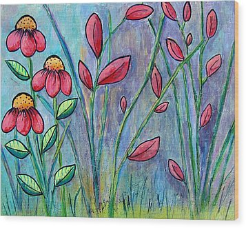 A Child's Garden Wood Print by Suzanne Theis