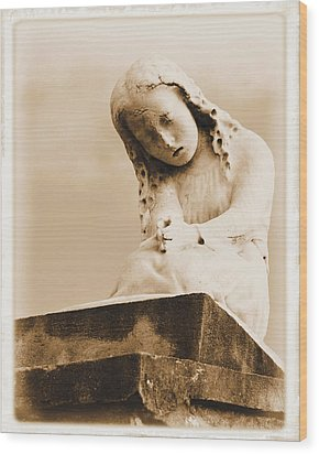 Wood Print featuring the photograph A Child's Prayer by Nadalyn Larsen