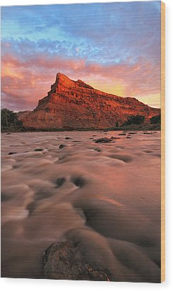 Wood Print featuring the photograph A Chocolate Milk River by Ronda Kimbrow