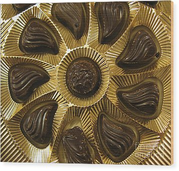 A Chocolate Sun Wood Print by Ausra Huntington nee Paulauskaite
