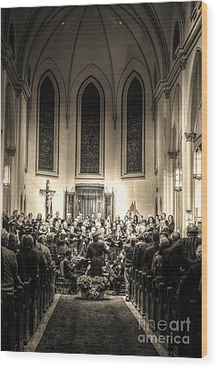 Wood Print featuring the photograph A Christmas Choir by Maddalena McDonald