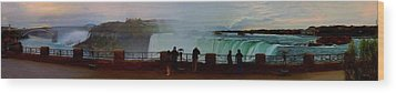 A Cold November Mist Over Niagra Wood Print by Dennis Lundell