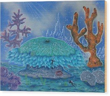 A Coral Kingdom Wood Print