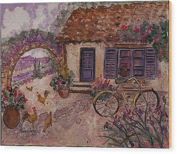 A Cottage In Provence Wood Print