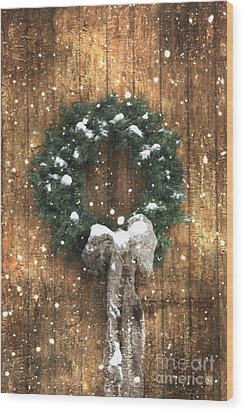 A Country Christmas Wood Print