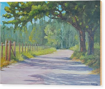 A Country Road Wood Print by Rich Kuhn