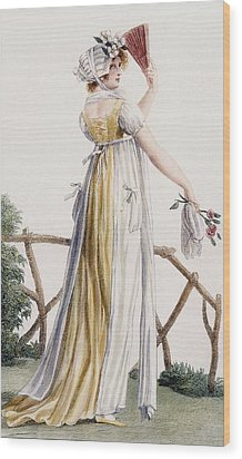 A Country Style Ladies Dress Wood Print by Pierre de La Mesangere