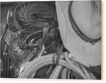 A Cowboy's Gear Wood Print