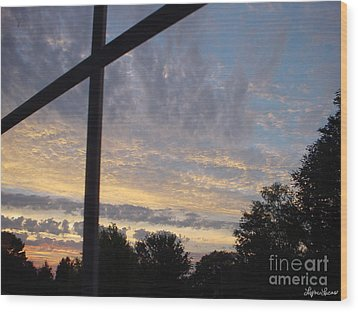Wood Print featuring the photograph A Cross The Sky by Lyric Lucas