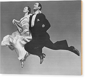 A Dance Team Does The Rhumba Wood Print by Underwood Archives