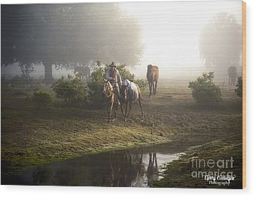 Wood Print featuring the photograph A Day At Dry Creek by Linda Constant